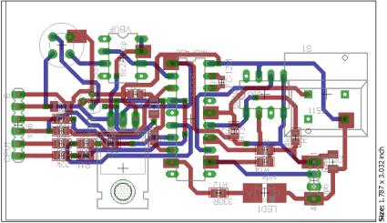 Indoor Sensor Unit PCB layout (both layers)