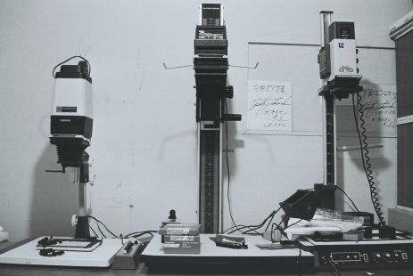 Enlargers in darkroom