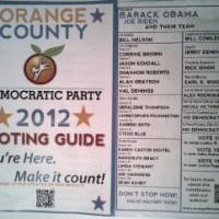 Orange County Democrats' Voting Guide
