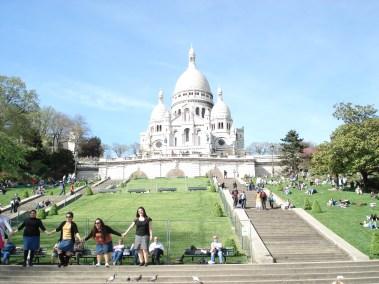 Sacre Coeur in Montmartre in Paris, France