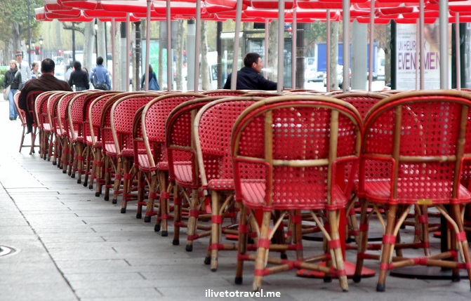 Paris, cafe, France, the life, chairs, red, ambience, food, Canon EOS Rebel, photo