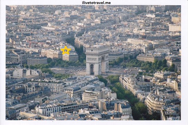 Aerial view of the Arc de Triomphe and Charles de Gaulle Etoile