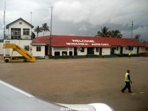 Mwanza airport in Tanzania, on the shores of Lake Victoria