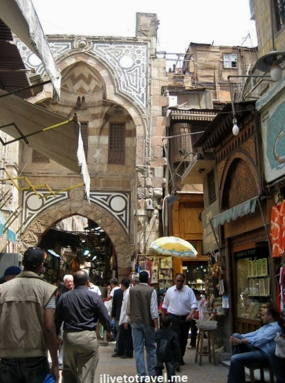 An alley in Khan el-Khalili in Cairo, Egypt