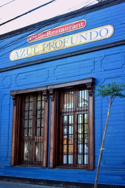 Azul Profundo restaurant in Barrio Bellavista, Santiago, Chile