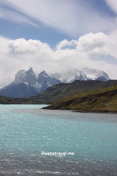 Amazing photo of Torres del Paine on a beautiful day with Canon EOS Rebel