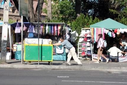 Street scene in Santiago de Chile