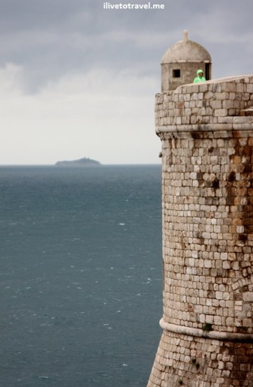 Guard post in the city walls of Dubrovnik, Croatia