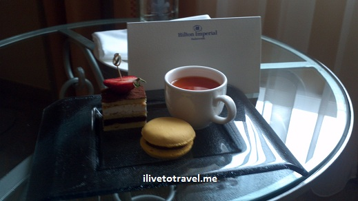 Hilton Grand Imperial welcome treat in my room in Dubrovnik, Croatia