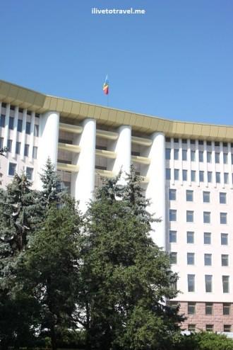 Parliament Building in Chisinau, Moldova