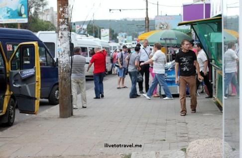 Street scene in Chisinau, Moldova