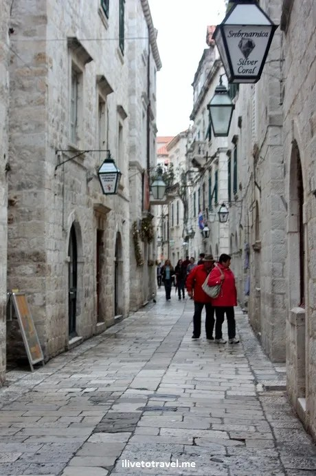 Narrow streets of Old Town Dubrovnik, Croatia