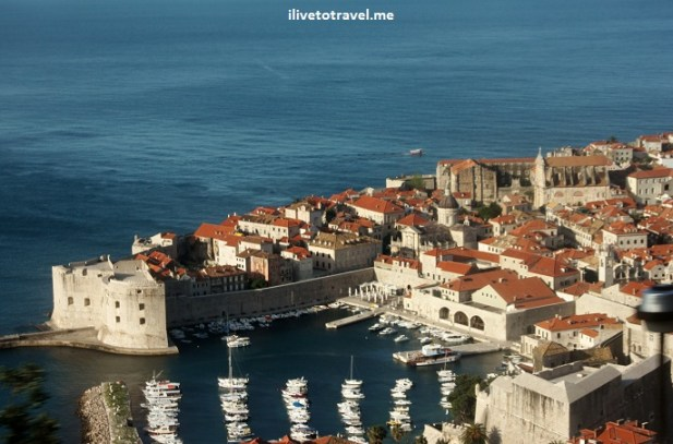Approaching Dubrovnik, Croatia coming from the airport and meetings its famous tiled roofs