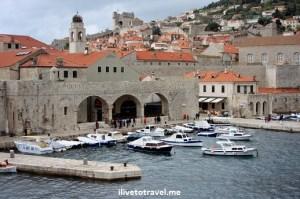 Harbor or port in Dubrovnik, Croatia