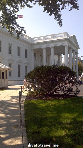 North portico of the White House as the tour ends