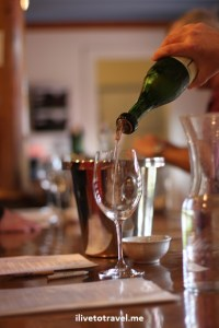 Wine being poured at a winery in Virginia wine country