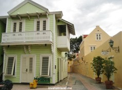 Architecture in Otrobanda in Willemstad, Curacao at the Hotel Kura Holanda