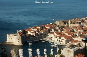 Dubrovnik, Croatia: a sea of red/orange tiles surrounded by the sea