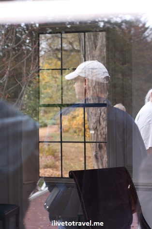 Image reflection on a window at Monticello