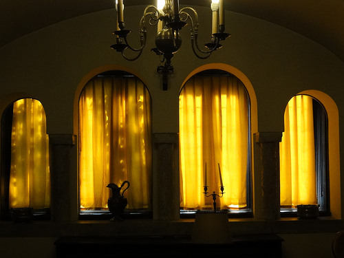 Indoors at Pelisor Castle in Romania