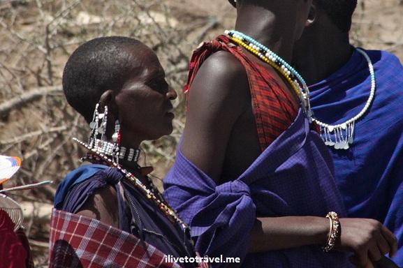 Masai women welcoming us to their village in Tanzania