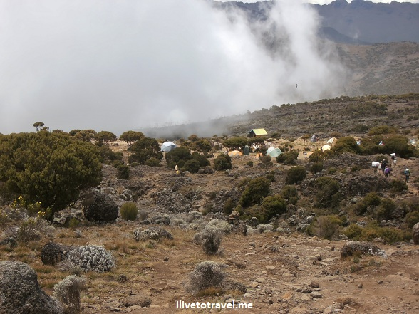 Approaching Shira Camp on Mt. Kilimanjaro
