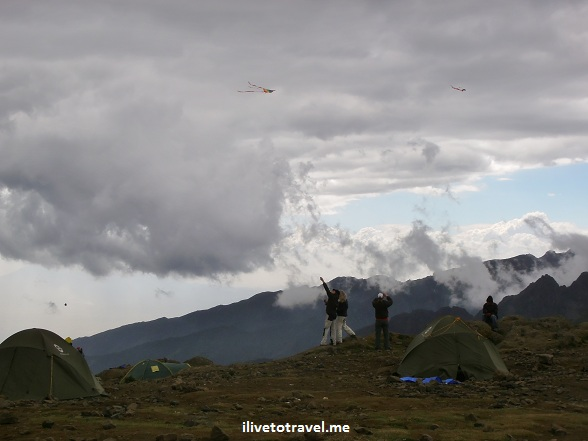 Flying kites in Mt. Kilimanjaro!
