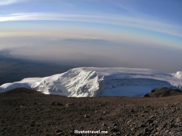 Glaciers atop Kilimanjaro
