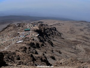 View of Barafu Camp on Mt. Kilimanjaro