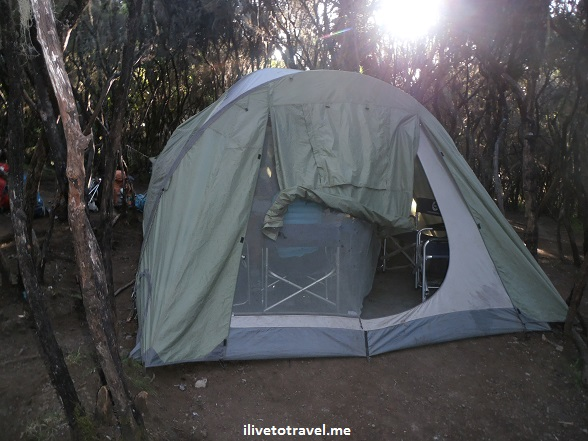 Dining tent in Kilimanjaro