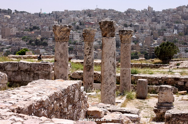 Citadel Amman Jordan Roman ruins columns Canon EOS Rebel