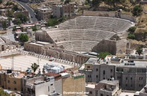 The Roman Theater in Amman, Jordan viewed from The Citadel