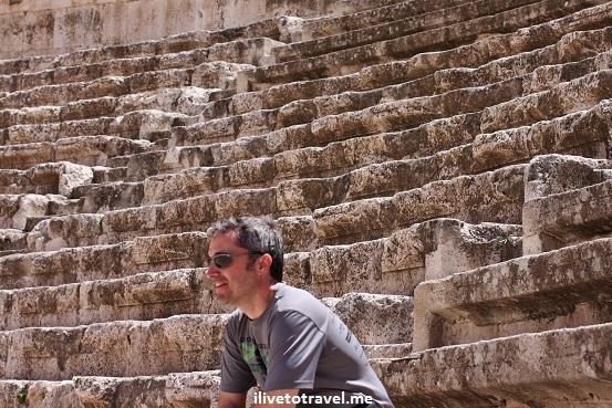 Roman Theater Amman Jordan modern spectator ruins Canon EOS Rebel