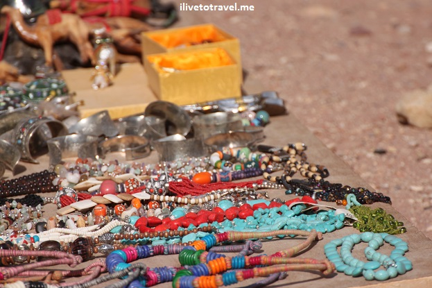 Jewelry sold by folks around Petra, Jordan