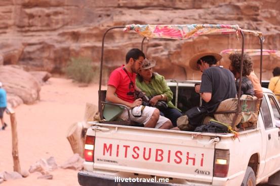 Transportation Wadi Rum desert Jordan