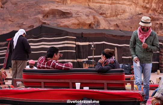 Captain desert camp in the Wadi Rum, Jordan