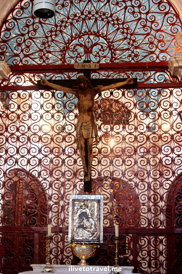 St. Tryphon's Cathedral - alter and crucifix in Kotor, Montenegro Canon EOS Rebel