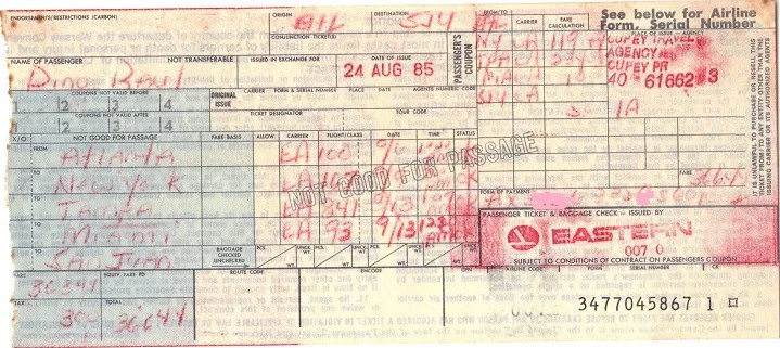 Plane ticket, paper ticket ,travel, flights, nostalgia, no electronic ticket,