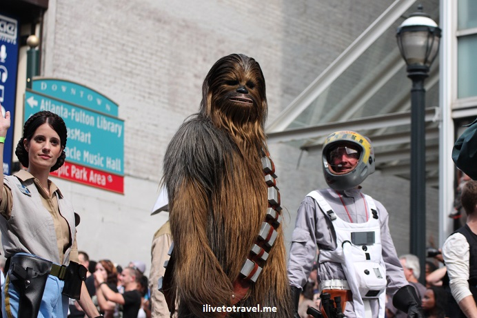 DragonCon, Dragon, Atlanta, parade, conference, convention, science fiction, fantasy, Canon EOS Rebel, Chewbacca, Star Wars