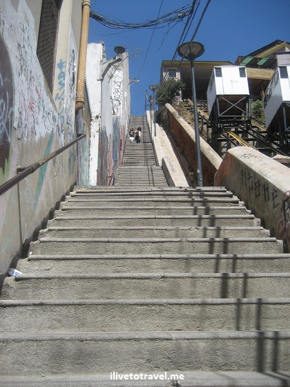 Valparaiso, stairs, funicular, Valpo, Chile, travel, tourism, charm, Canon EOS Rebel, photo