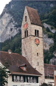 clock tower, Switzerland, Swiss architecture, drive, driving, travel, tourism, Canon EOS Rebel