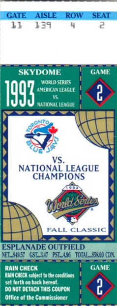 World Series, baseball, Toronto, Blue Jays, Phillies, Skydoe, ticket, souvenir, travel