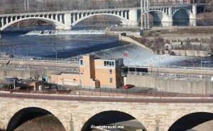 St Anthony's fall, Mississippi, Minneapolis, Minnesota, river, bridge, photo, travel, Canon EOS Rebel
