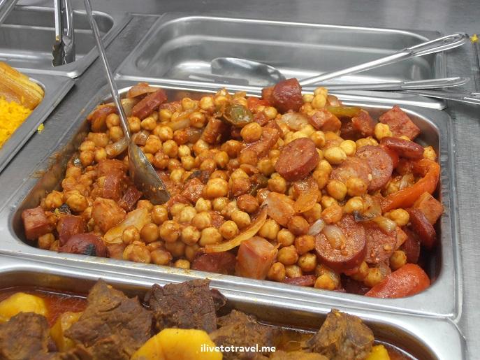 garbanzos, chick peas, Cuban food, porl, Palacio de los Jugos, Miami, travel, photo, foodporn, Olympus