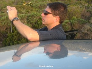 South Africa, Cape Town, photographer, sky reflection on car