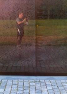 Vietnam War Memorial, D.C., name of the dead, veterans, reflection of memoral wall