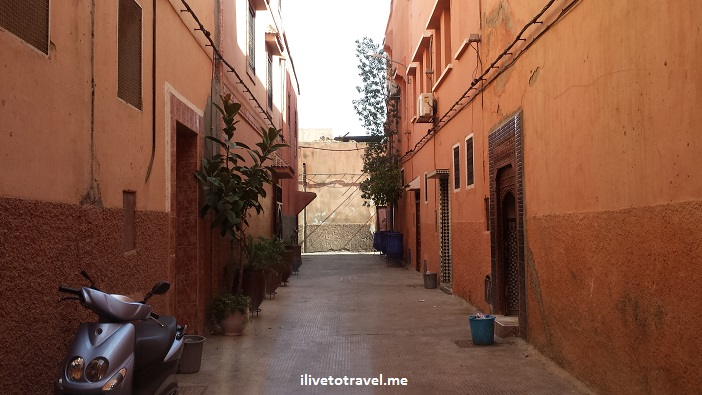 Marrakesh, Morocco, Mon Riad, alley, medina