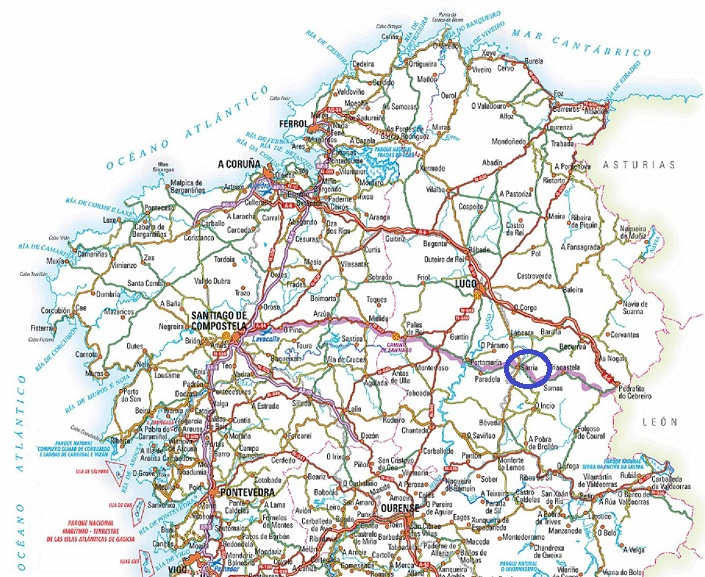 Galicia map  ilivetotravels travel log
