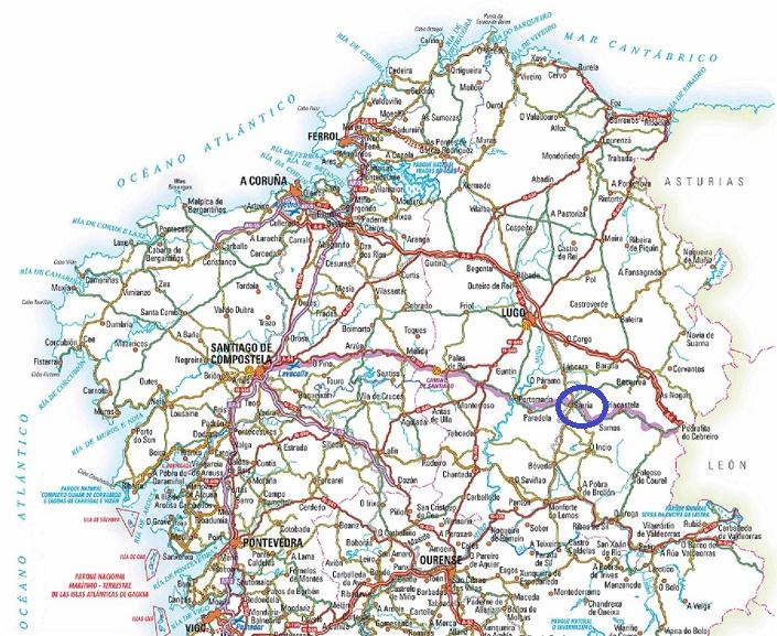 Galicia, Camino, Santiago, Compostela, camino frances, Frenc route, Sarria, map, pilgrimage
