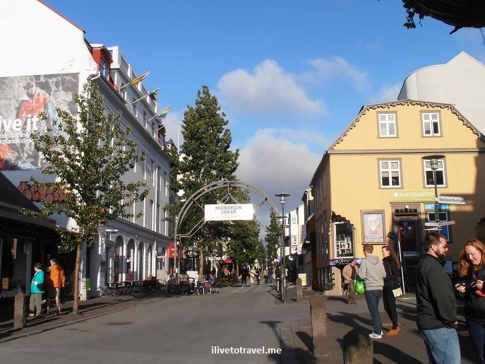 Reykjavik, Iceland, street scene, travel, pedestrian street, Laugavegur, Canon EOS Rebel